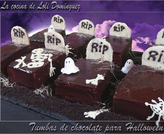 Tumbas de chocolate para Halloween