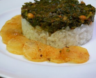 Curry de radis blancs et ses fanes – White radish and greens curry