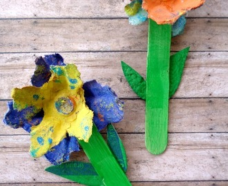 The Cutest Upcycled Egg Carton Spring Flowers Craft