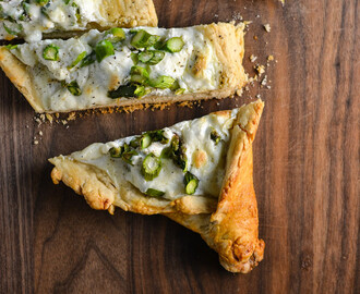 Khachapuri with Asparagus {Georgian Cheese Bread}