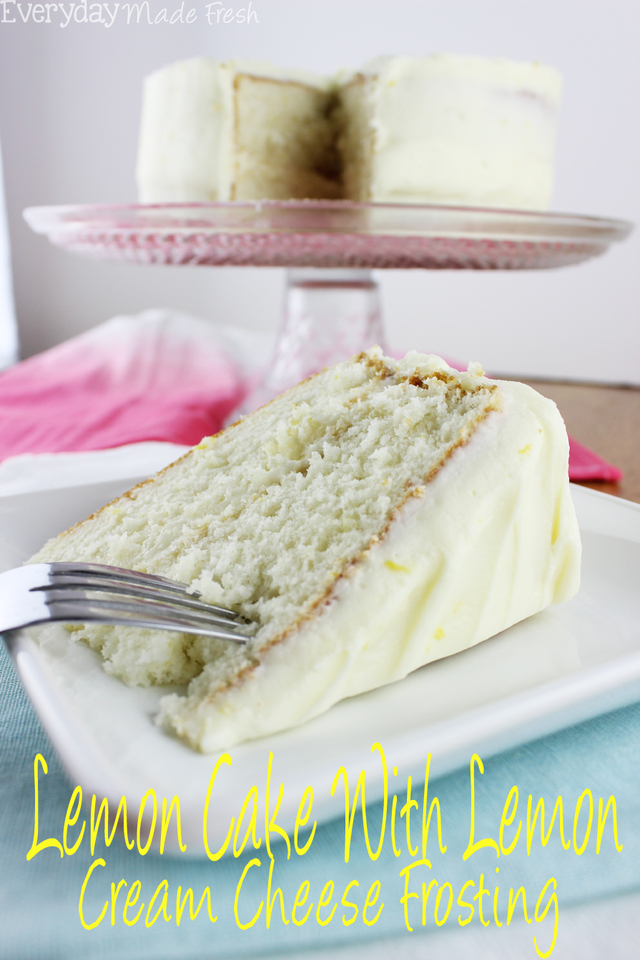 Lemon Cake with Lemon Cream Cheese Frosting