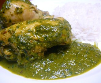 Saag Murgh – Poulet aux épinards – Chicken and spinach curry