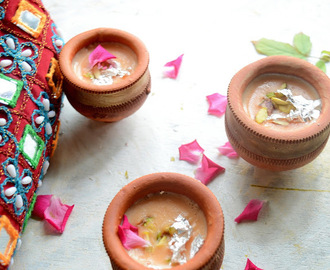 Kesar Phirni | Saffron Flavored  Rice Pudding | Indian Dessert