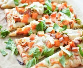 Sweet Potato and Cheese Flatbread