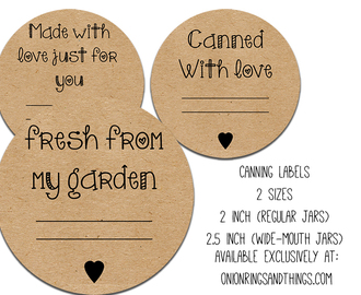 FREE Canning Label Printables Plus Video