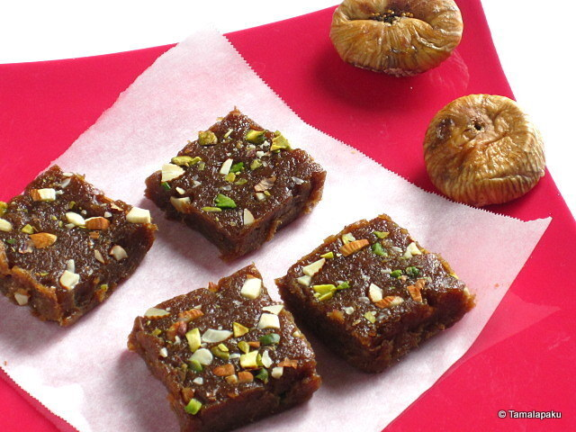 Dried Figs Fudge ~ Anjeer Halwa
