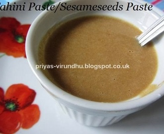 Homemade Tahini Paste/Sesame Seeds Paste-Middle Eastern Delight