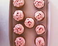 Blomster cupcakes