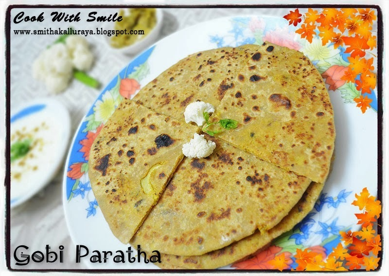 GOBI PARATHA / CAULIFLOWER STUFFED FLAT BREAD