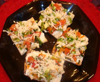 Cold Veggies Crescent Roll Pizza
