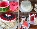 NO BAKE WATERMELON CAKE