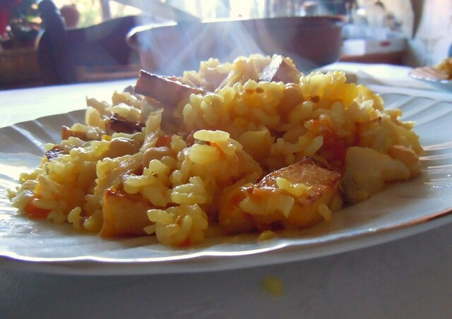 Arroces (II): con bacalao
