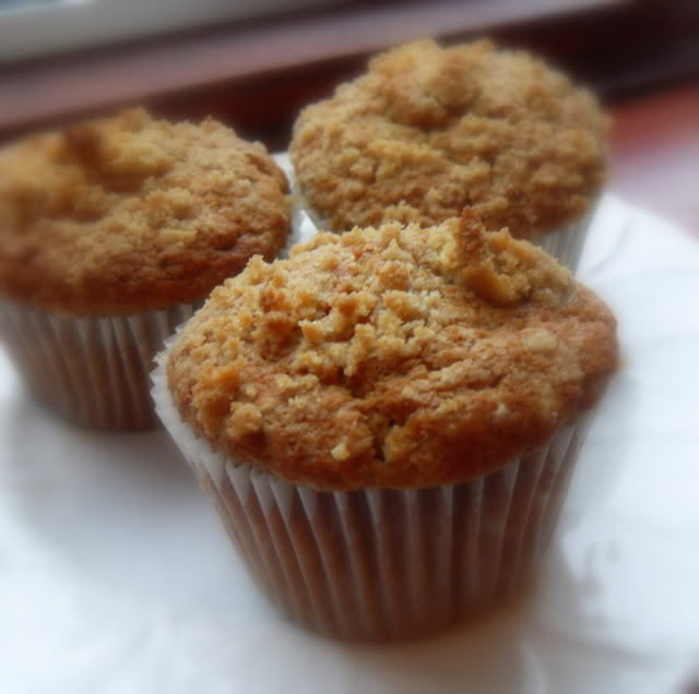 Pear Ginger Streusel Muffins