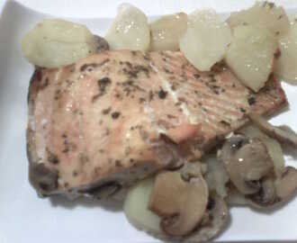 Recetas de champi ones laminados al horno mytaste - Salmon con champinones ...
