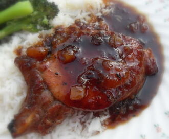 Sticky Glazed Pork Chops