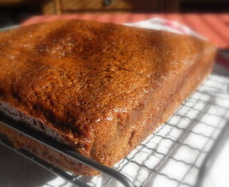 World's Best Gingerbread Cake with a Spiced Lemon Sauce
