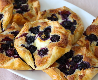 Blueberry cheesecake flapjes met frangipane