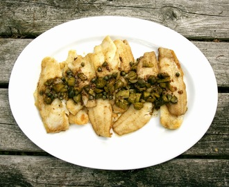 Sole with Capers, Cornichons, and Brown Butter Sauce