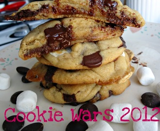 Browned Butter Dark Chocolate and Marshmallow Cookies-Cookie Wars 2012!