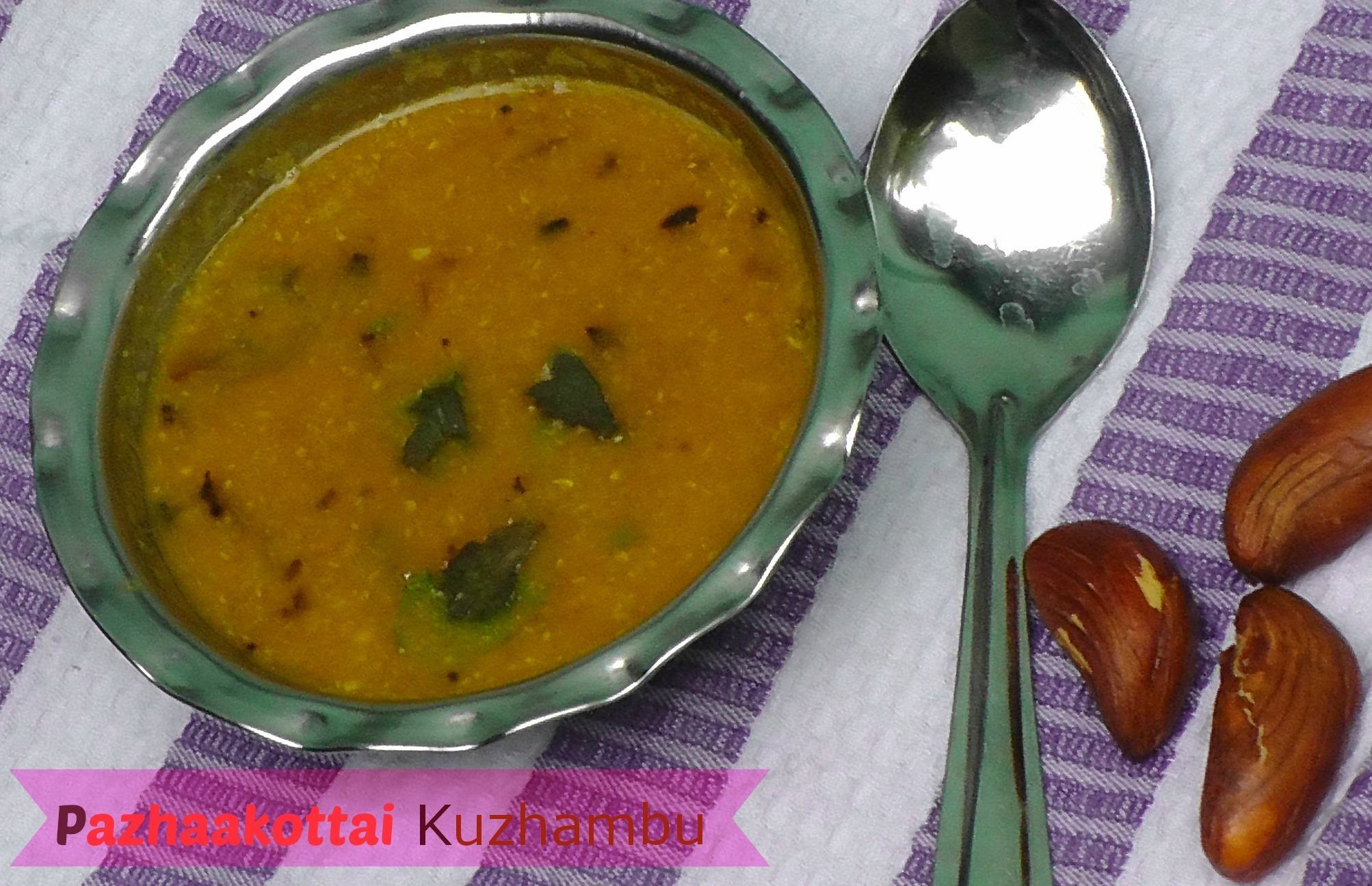 PazhaaKottai Kuzhambu | Jackfruit Seed Stew | No Onion No Garlic Recipe