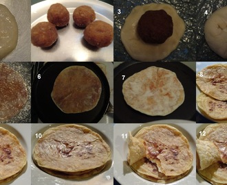 Kayi Holige/Kayi Obbatu/Coconut Stuffed Sweet Bread/Nariyal Puran Poli