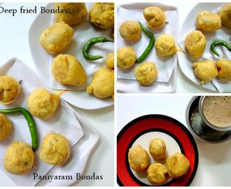 Aaloo Bonda made in Paniyaram pan    ( Spicy mashed potato balls )