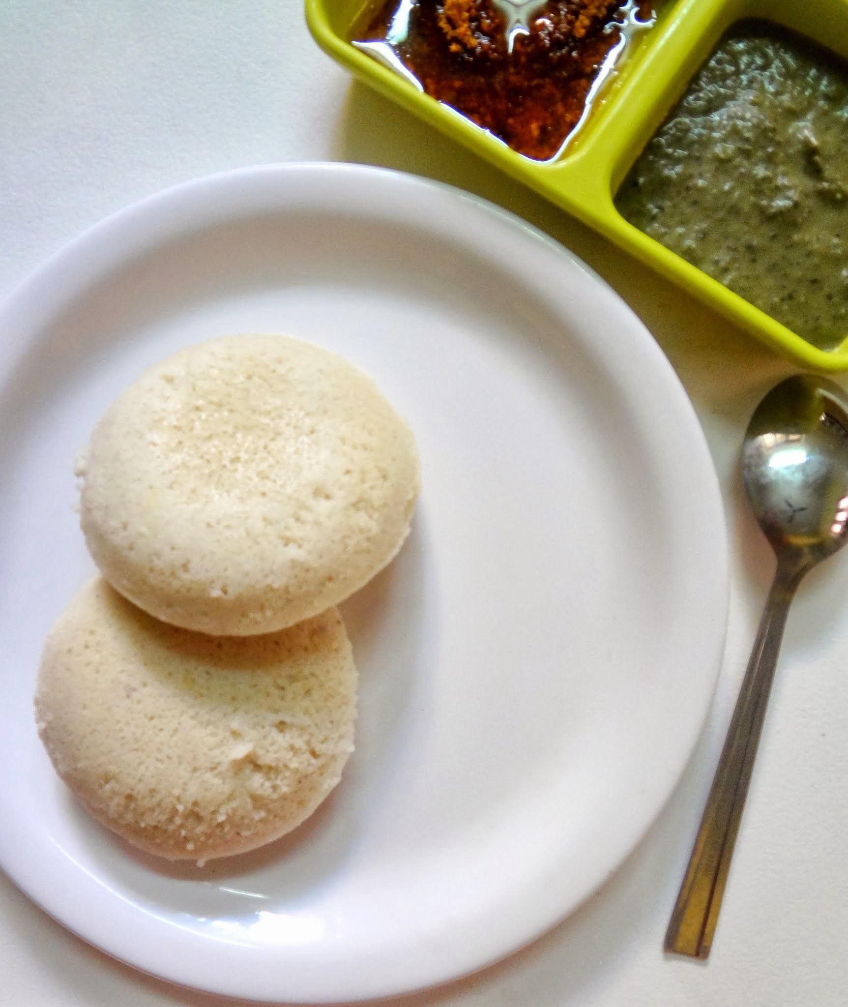 Healthy Idlis using Varagarsi ( Kodo millet )