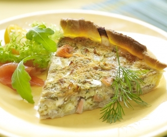 Quiche van witloof en zalm