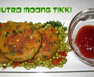 Sprouted Moong Tikki