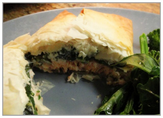 Salmon and Spinach Parcels