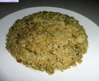 Peas, Coriander And Mint Pulao