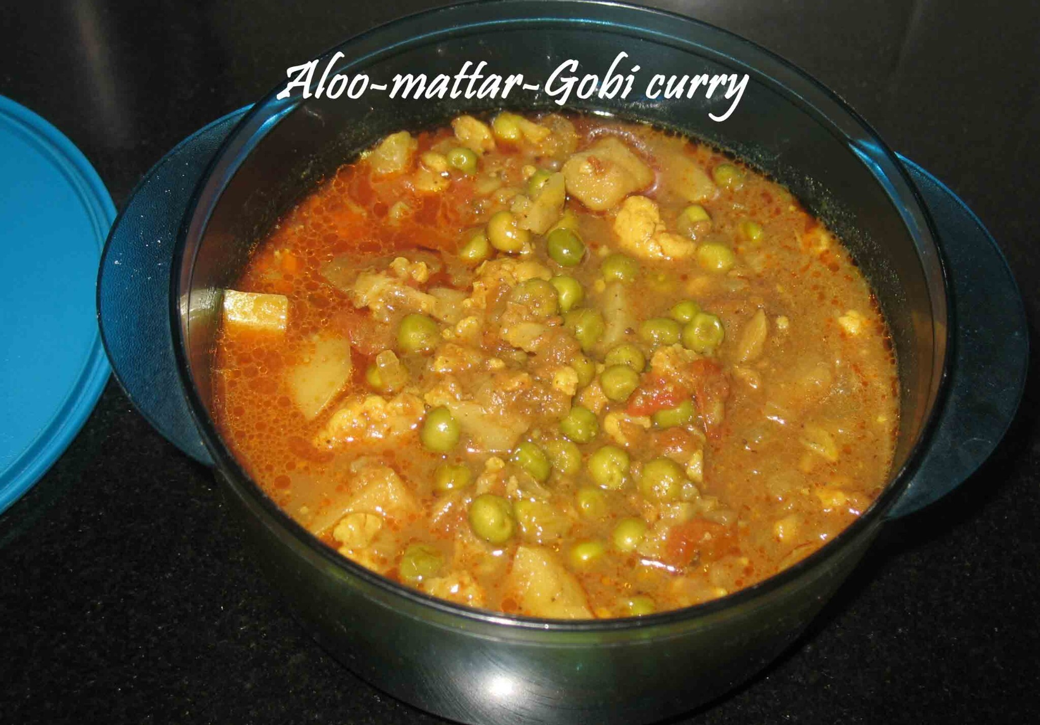 Aloo mattar Gobi curry
