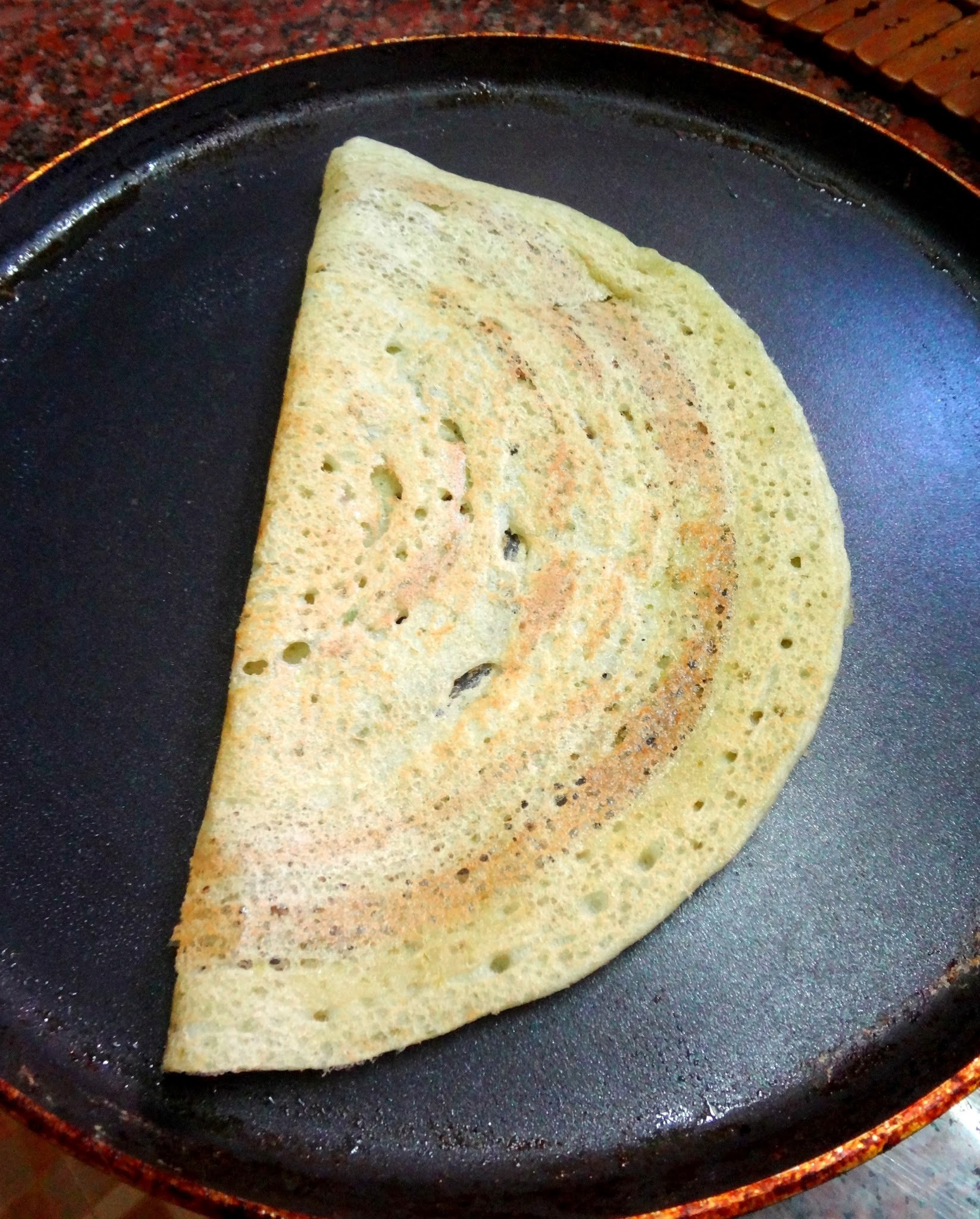 Okra Dosa   ( Thin Indian crepes using okras )