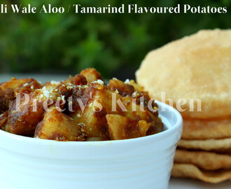 Imli Wale Aloo / Tamarind Flavored Potatoes