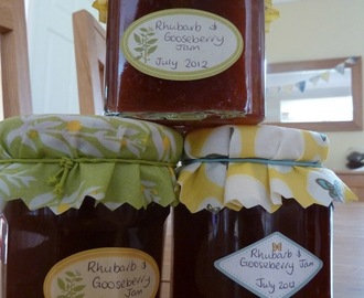 Rhubarb and Gooseberry Jam