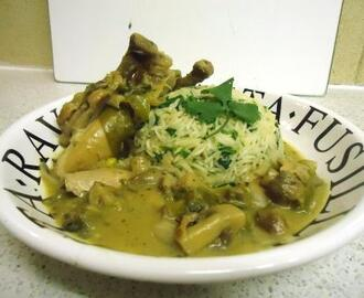 Thai Green Chicken Curry with Coriander Rice