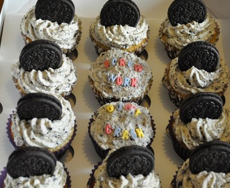 Oreo cupcakes with fresh cream frosting