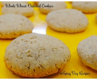 Egg less Whole Wheat- Oatmeal Cookies