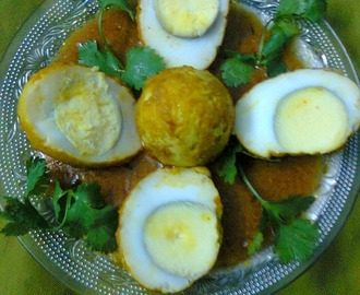 Egg Vindaloo/Bengali Egg Curry In Goan Style/Rich Egg Curry