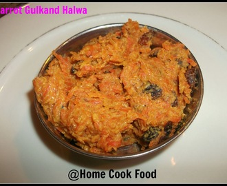 Carrot Gulkand( Rose Petals)  Halwa - No sugar