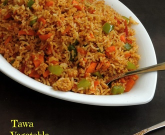 Tawa Vegetable Fried Rice/Desi Fried Rice