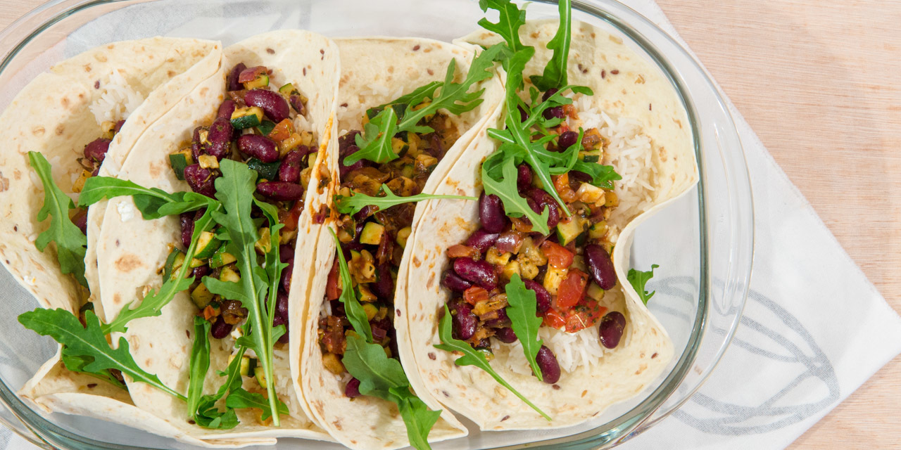 Vegetarische wraps.