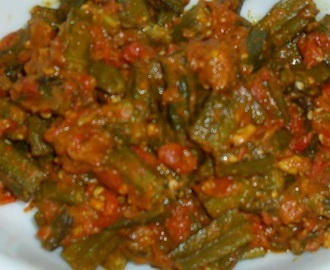 Bendekai Mild Masala Palya - Ladies Finger In A Mild Spicy Gravy