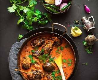 Hyderabadi Bagara Baingan (Baby Eggplant Curry)
