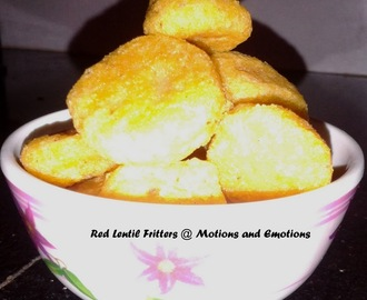Masoor Dal r Bora r Jhal / Red Lentil Fritter's Curry / Red Lentil Fritters in Mustard Sauce
