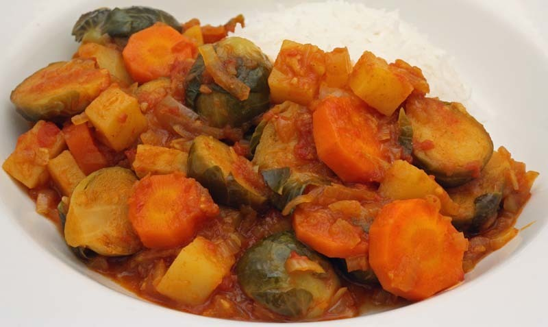Indian Style Brussels Sprouts Curry