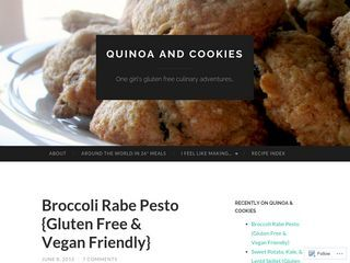 quinoa and cookies