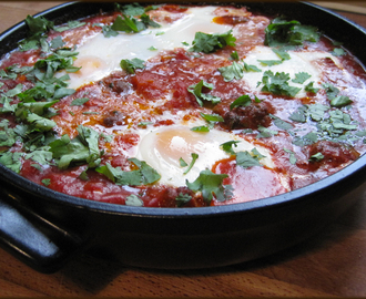 Kefta Mkaouara - Spicy Egg, Meatball and Tomato Tagine