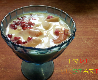 Cooking Video Episode 9 - Fruit Custard Recipe / Fruit Salad With Custard Sauce