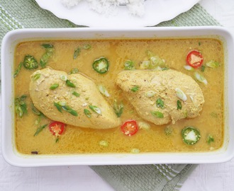 Spiced Chicken in Yoghurt Sauce.
